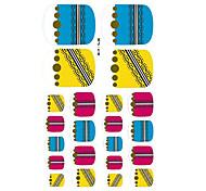 22PCS Colorful Zipper Pattern Cartoon Nail Art Sticker XJ Sery No.14