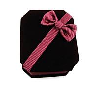 Octagonal Velvet Jewelry Box Paper Box Pendant Necklace Jewelry Gift Box