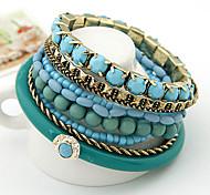 Bohemia Bracelet Multilayer Ocean Blue Style Strand Bracelet