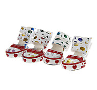 Cat / Dog Shoes & Boots Red / Blue / Pink Summer Cotton / PU LeatherDog Shoes
