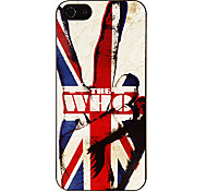 Strong Man in the Union Jack Pattern Aluminous Hard Case for iPhone 5/5S