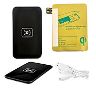 Black Wireless Power Charger Pad + USB Cable + Receiver Paster(Gold) for Samsung Galaxy Note2 N7100