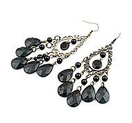 Elegant Bohemia Black Water-Drop Earrings