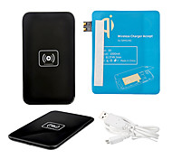 Black Wireless Power Charger Pad + USB Cable + Receiver Paster(Blue) for Samsung Galaxy S3 I9300