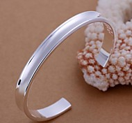 Fashion 6cm Women's Silver Plated Brass Bangle(1pc)