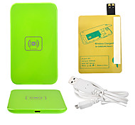 Green Wireless Power Charger Pad + USB Cable + Receiver Paster(Gold) for Samsung Galaxy S4 I9500