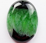 Зеленый Druzy Geode Агат Овальный Кабина Cabovhon
