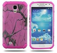 2 в 1 Розовый Кора Стиль ПК и Sillcone Композитный чехол для Samsung Galaxy S4 9500