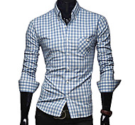 Shirt Cotone Moda Uomo Plaid (assortiti Dimensioni, colori assortiti)