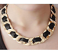 Black Weave Chain Necklace