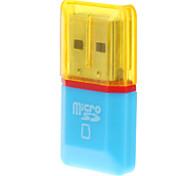 USB 2.0 lector de tarjetas de memoria Micro SD (azul / amarillo)
