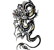 5 Stück Black Dragon Wasserdicht Tattoo (10,5 cm * 20,5 cm) HM229