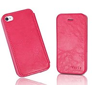 Grain Pattern PU Leather Full Body Case for iPhone 4/4S (Assorted Color)