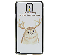 Antler Cartoon Owl Pattern Aluminum&Plastic Hard Back Case Cover for Samsung Galaxy Note3 N9000