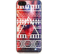 Outer Space with Triangles Pattern Aluminous Hard Case for iPhone 5/5S