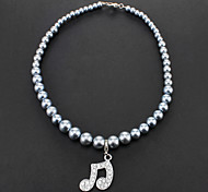 Elegant Musical Note Pendant Necklaces for Pets Dogs
