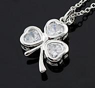 Korean Clover Pendant Necklace(Random Color)