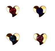 YeManNvYou®20PCS Lovely Kiss Love Shape Shape 3D Metal Crystal Nail Decorations No.52-55 (Assorted Colors)