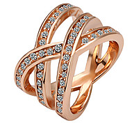 Fashion Women's Gold Rose Gold Statement Rings(1 Pc)