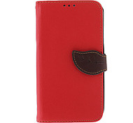 Patrón BJ00134 Hoja hebilla PU bolsas de cuero para Samsung Galaxy Nota 2 N7100