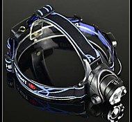 BORUIT A6 Rechargeable 3-Mode Cree XM-L T6 Zoom LED Headlamp(1200LM,2*18650,Black)