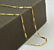 Sweet Golden Titanium Steel Chain Necklace