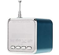 С-27 Куб Mini Speaker Поддержка TF / SD / USB / FM-радио (синий)