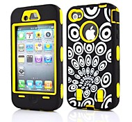 2 in 1 Vortex Robot Style PC and Sillcone Composite Case for iPhone 4/4S(Assorted Colors)