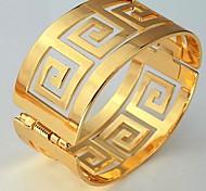 u7® старинные 60mm мужчины или женщины 18k реальное позолоченные г письмо браслеты браслеты манжеты браслет