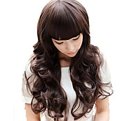 Pop Corn Roll Full Bang Synthetic Long Wavy Wigs 3 Colors Available