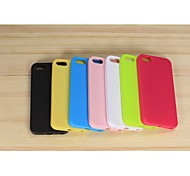Solid Color Anti-reflexo de corpo inteiro em TPU para iPhone5/5S