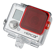 GoPro HD Hero 3 + PC Under Sea Filterabdeckung - Rot