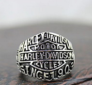 "Punk Silver Alloy ""Harley Motor"" Men's  Statement Rings(1 Pc)"