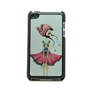 Folk Style Girl  Pattern Hard Case for iPod touch 4