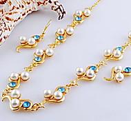 elegantes do casamento brincos de cristal strass e colar conjunto de jóias