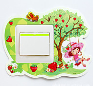 1PCS Colorful Swing Switch Wall Sticker