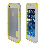 Fashion New Double Color TPU Frame Bumper for iPhone5S(Yellow+White)