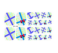22PCS Cartoon Packaging Pattern Toenail Art Sticker XJ Sery No.24