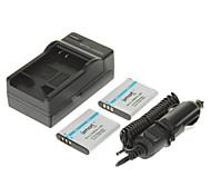ismartdigi 950mAh batería de la cámara (2 unidades) + cargador de coche para OLYMPUS SZ12 SZ31 SZ11 SZ30 XZ-1 PENTAX D-Li92