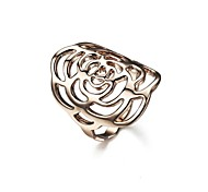 Lady`s Hollow Out Fashion Flower Ring