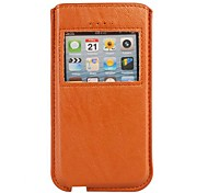 Caller Display Pouch leather Cover for iPhone 5/5S