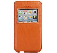 Anruferanzeige Pouch Lederhülle für iPhone 5/5S