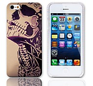 Smoking Skull Design Hard Case with 3-Pack Screen Protectors for iPhone 5/5S