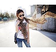 Da Mulher Leopardo Verão Chiffon Cachecol