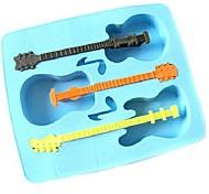Novidade Guitarra Estilo Silicon Ice Cube Mould