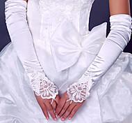Da opera Senza dita Guanti Raso elasticizzato Guanti da sposa Da sera/eleganti Primavera Estate Autunno