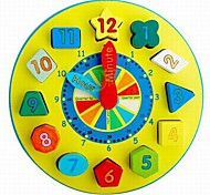 Baby  Educational Toys Wooden Colorful Clock Blocks