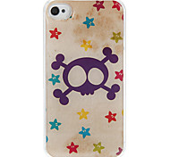Skull Pattern Epoxy Hard Case for iPhone 4/4S
