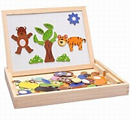 Baby  Educational Toys Wooden Magnetic 3D Animal Puzzle