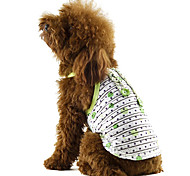 Dog Shirt / T-Shirt Red / Yellow / Green Dog Clothes Summer Stars